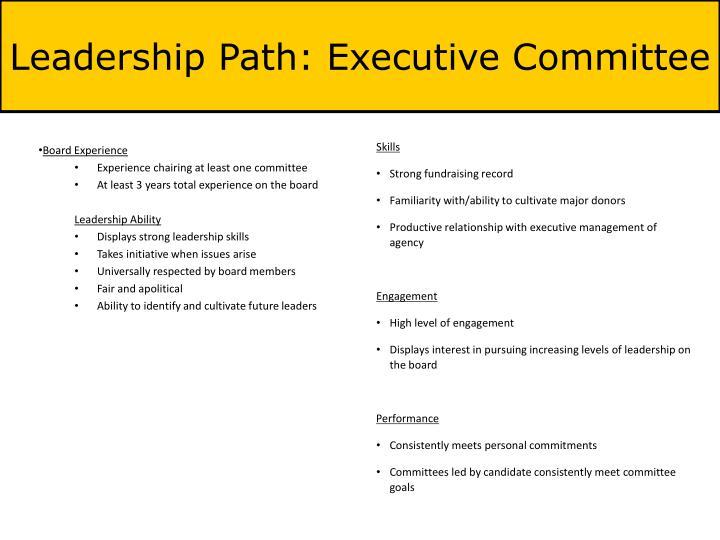 Leadership Path: