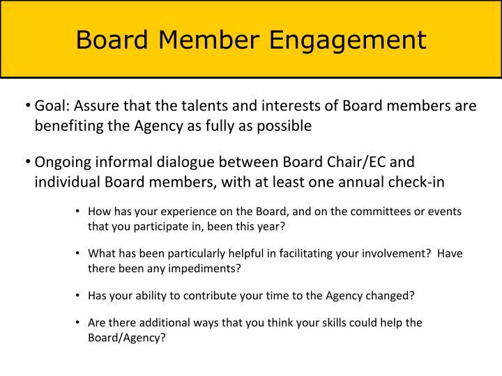Board Member Engagement