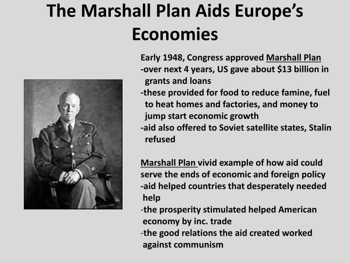 The Marshall Plan Aids Europe's Economies