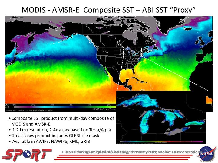 MODIS - AMSR-E  Composite