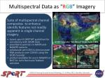 multispectral data as r g b imagery