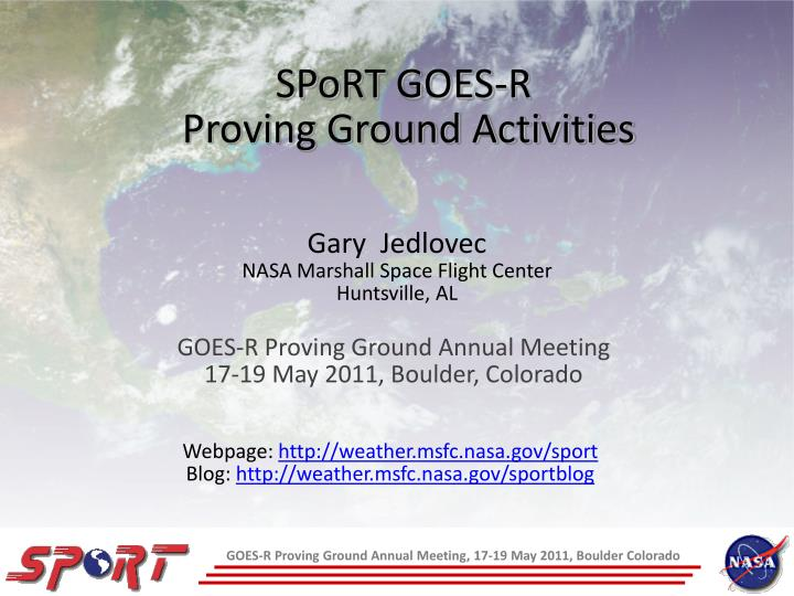 Sport goes r proving ground activities
