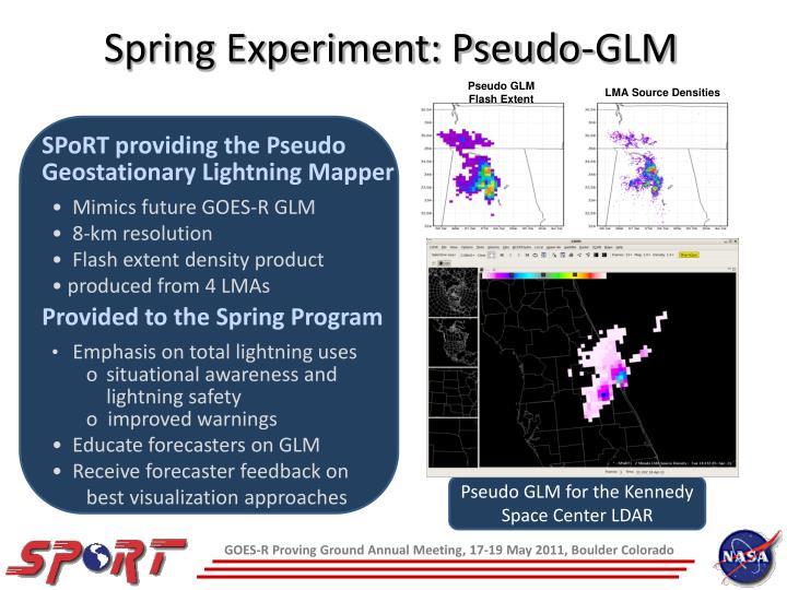 Spring Experiment: Pseudo-GLM