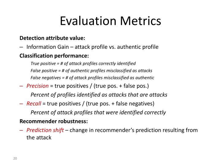 Detection attribute value:
