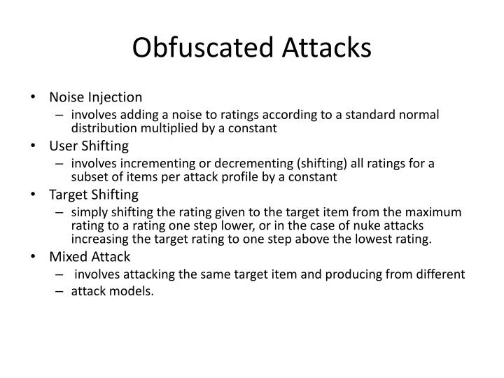 Obfuscated Attacks