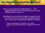 are negative emotions normal1