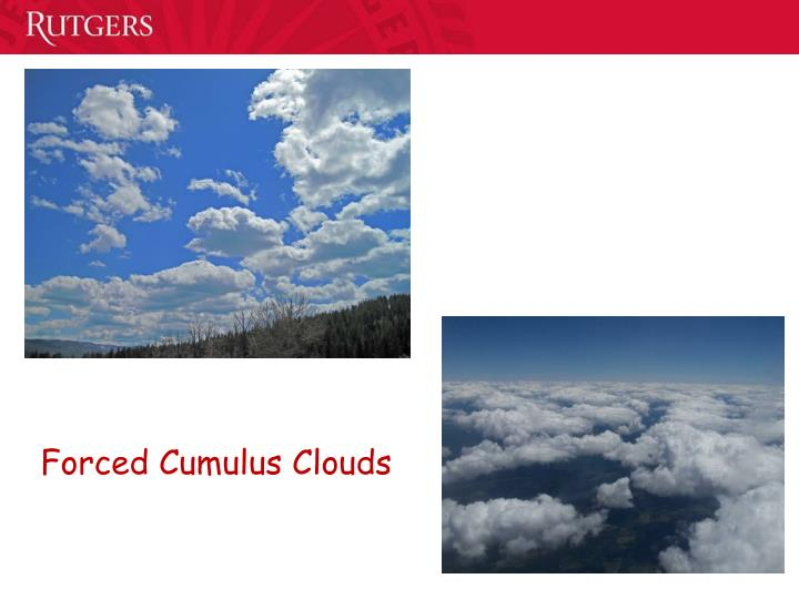 Forced Cumulus Clouds