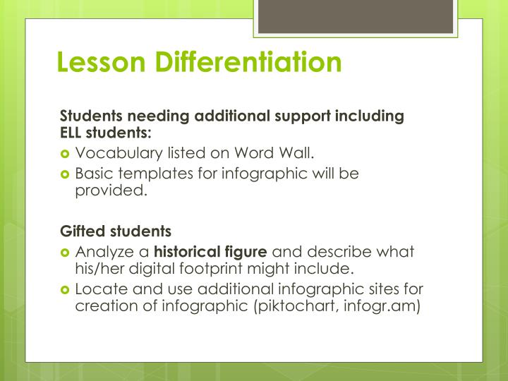 Lesson Differentiation