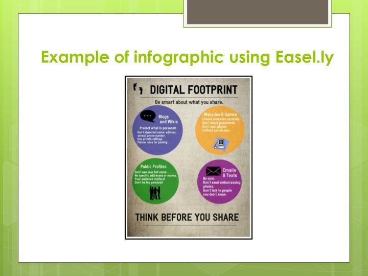 Example of infographic using Easel.ly