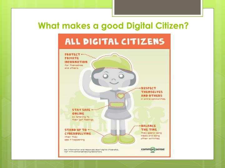 What makes a good digital citizen