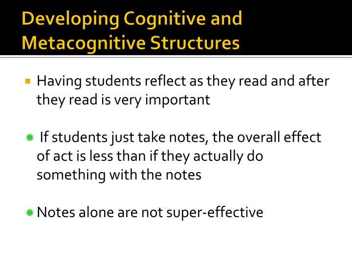 Developing Cognitive and