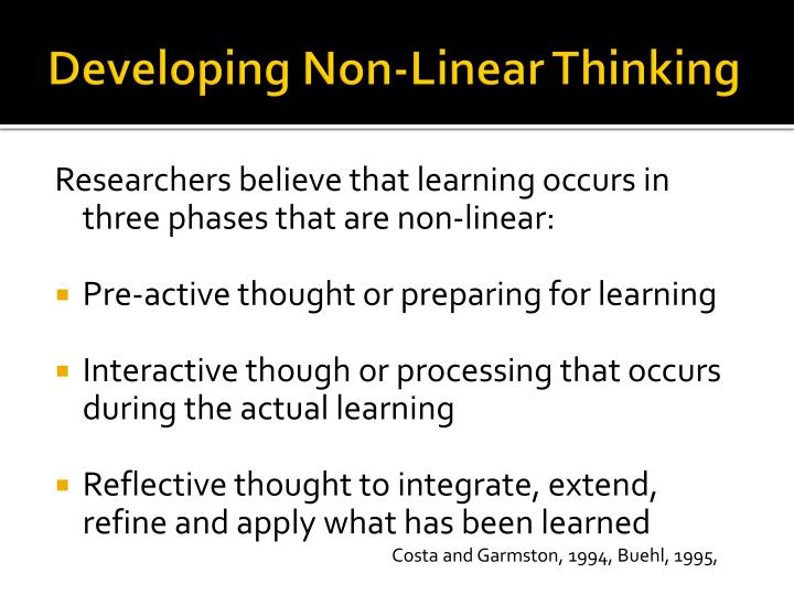 Developing Non-Linear Thinking