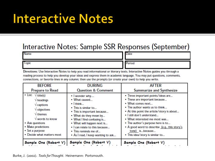 Interactive Notes