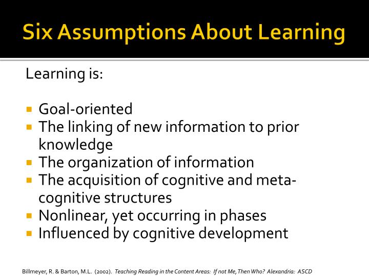 Six Assumptions About Learning