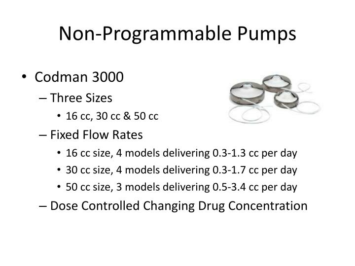 Non-Programmable Pumps