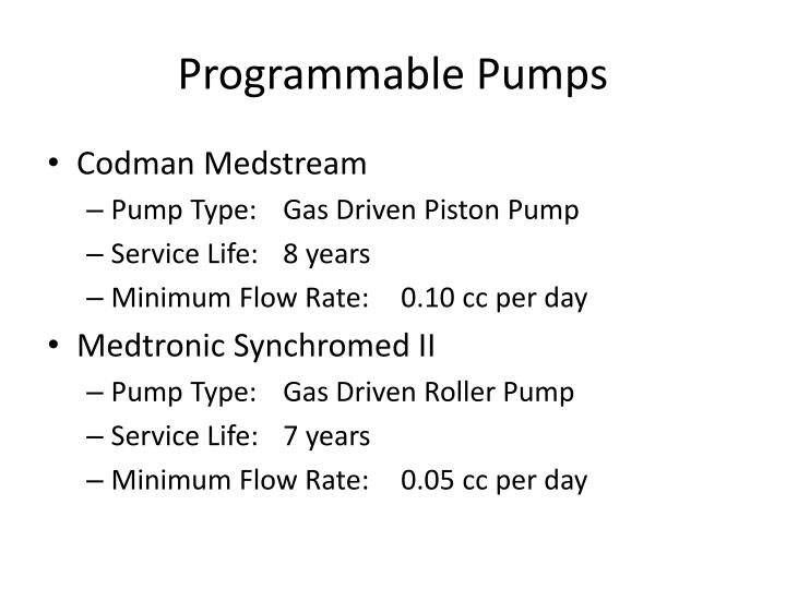 Programmable Pumps