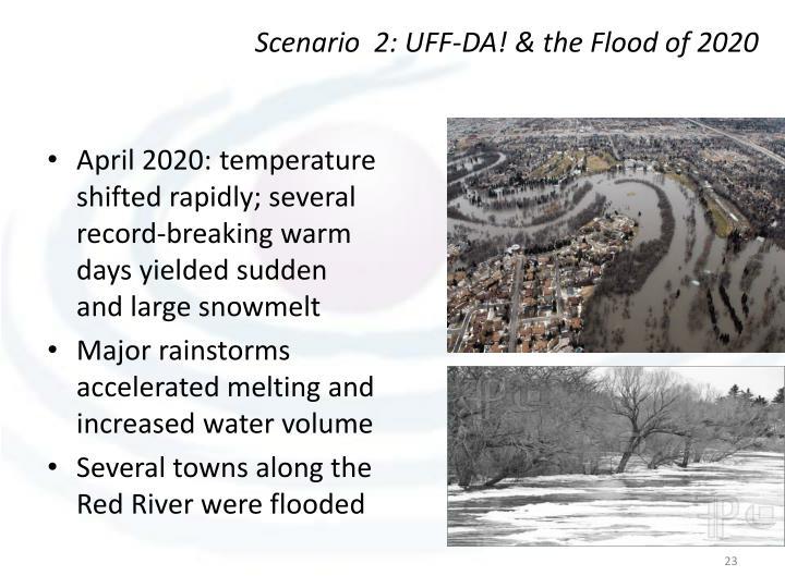 Scenario  2: UFF-DA! & the Flood of 2020