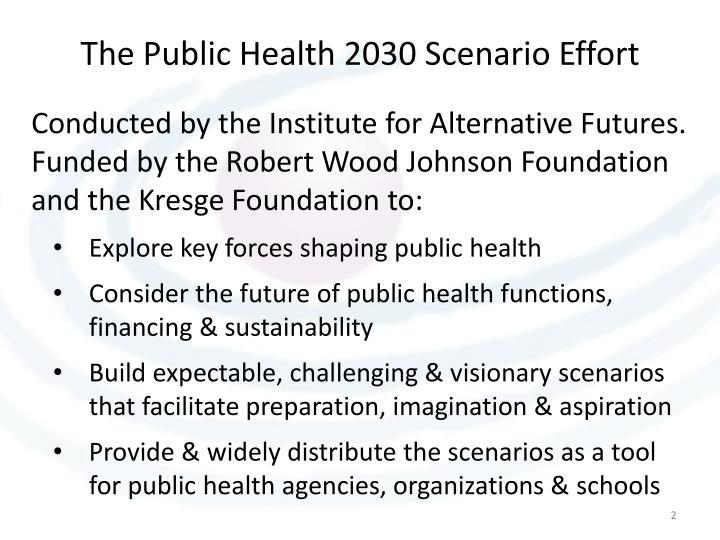 The Public Health 2030 Scenario