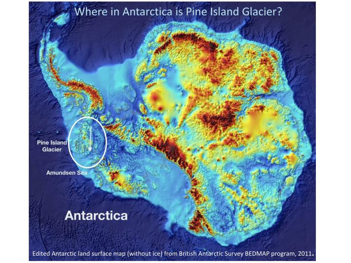 Where in Antarctica is Pine Island Glacier?