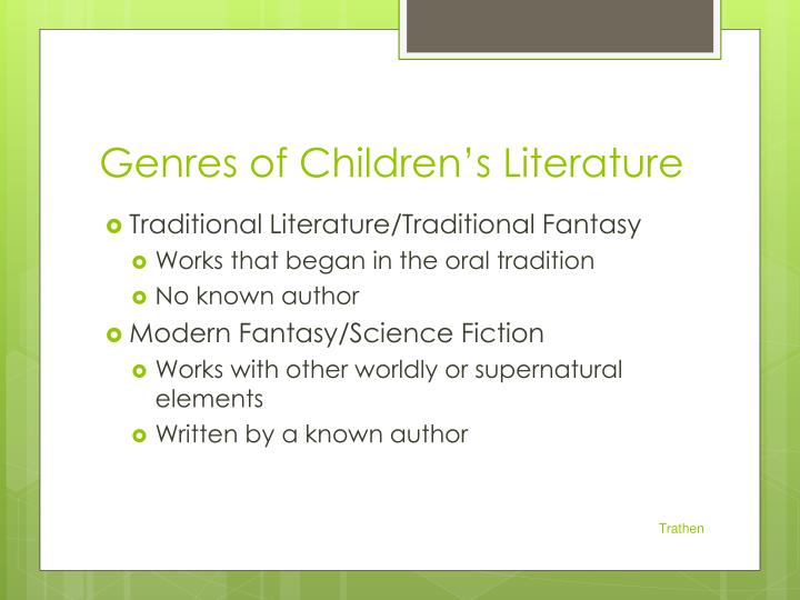Genres of Children's Literature