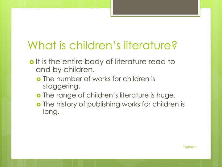 What is children s literature