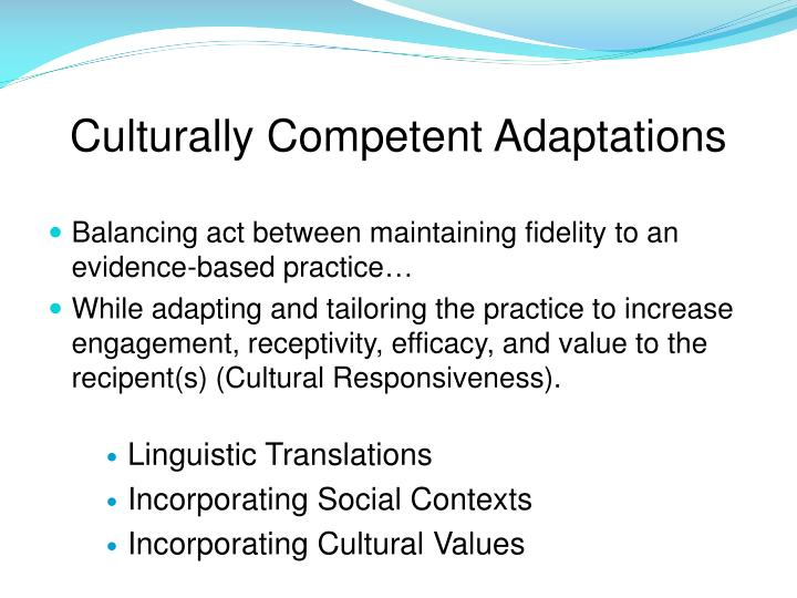 Culturally Competent Adaptations
