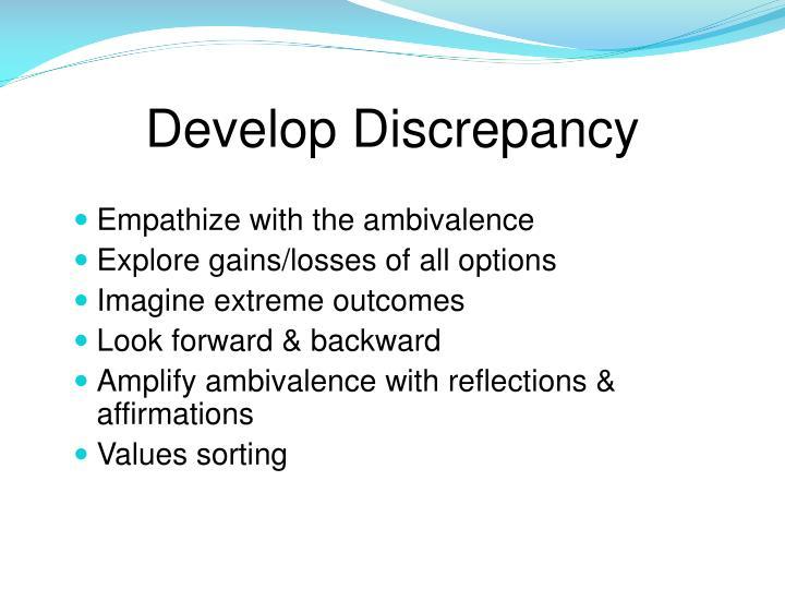 Develop Discrepancy