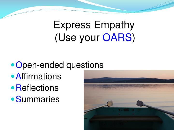 Express Empathy