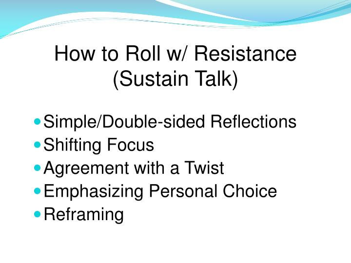 How to Roll w/ Resistance