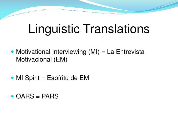 Linguistic Translations