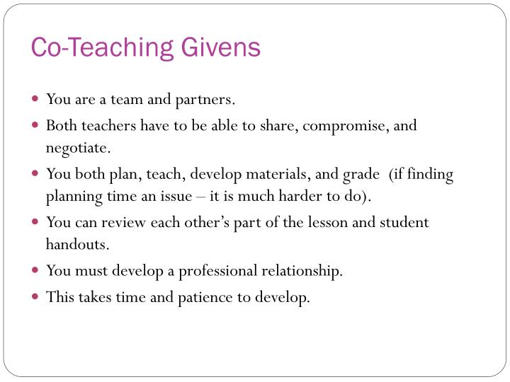 Co-Teaching Givens