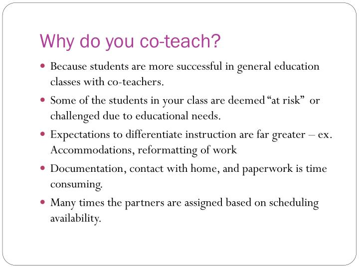 Why do you co-teach?