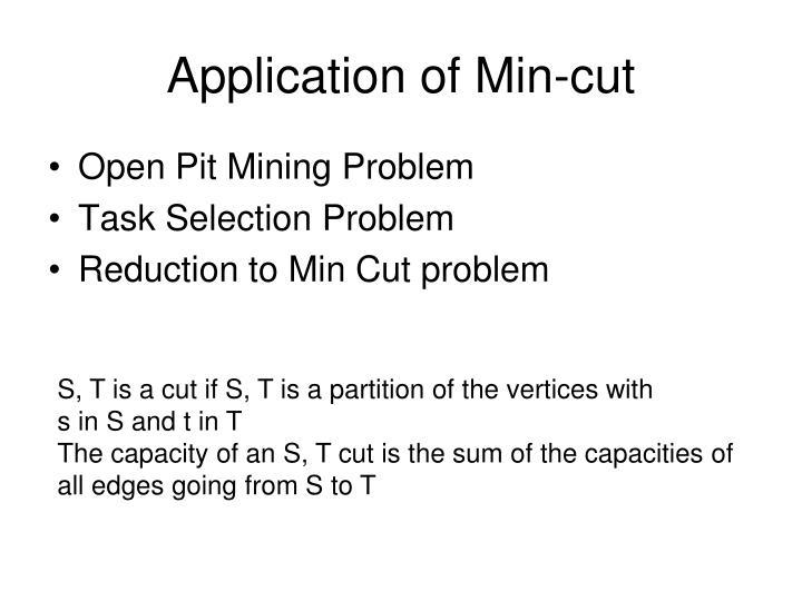 Application of Min-cut