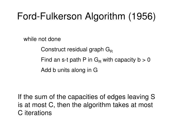 Ford-Fulkerson Algorithm (1956)