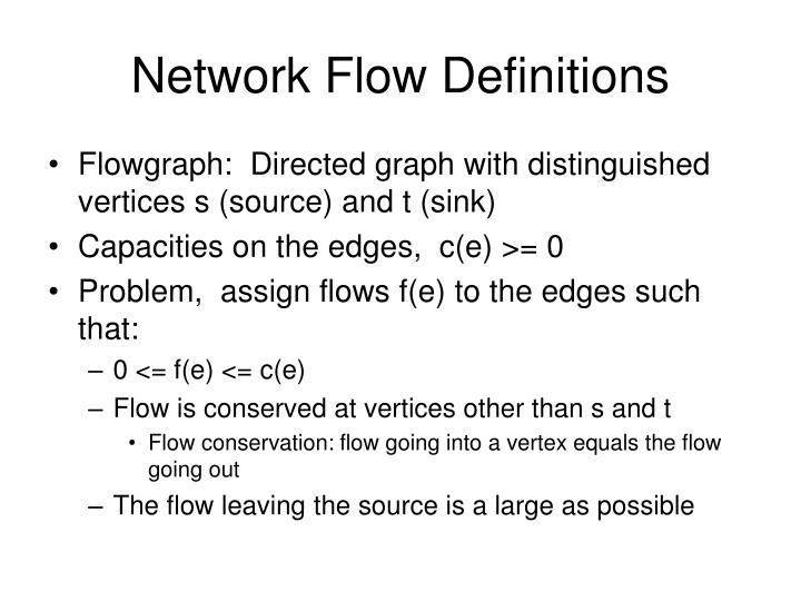 Network Flow Definitions