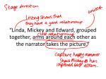 linda mickey and edward grouped together arms around each other as the narrator takes the picture