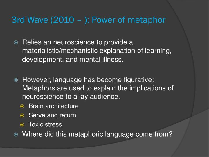 3rd Wave (2010 – ): Power of metaphor