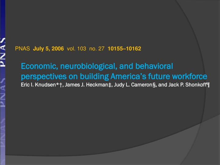 Economic, neurobiological, and behavioral