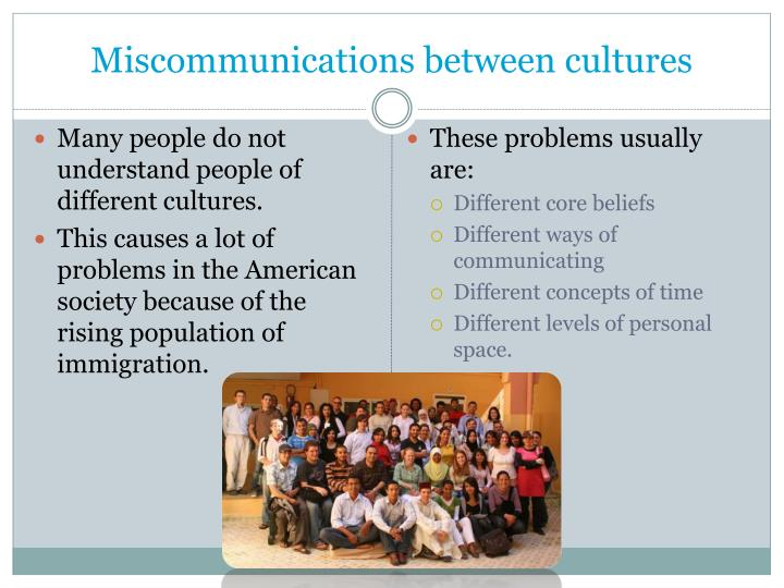 Miscommunications between cultures