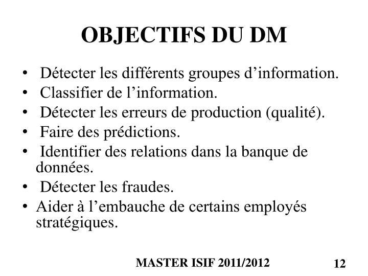 OBJECTIFS DU DM