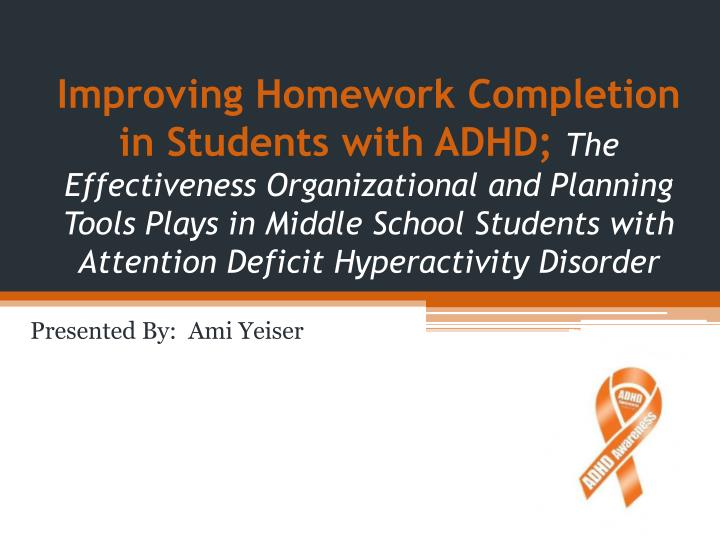 Improving Homework Completion in Students with ADHD;