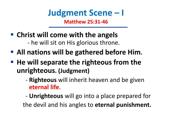 Judgment Scene – I