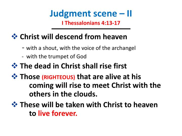 Judgment scene – II