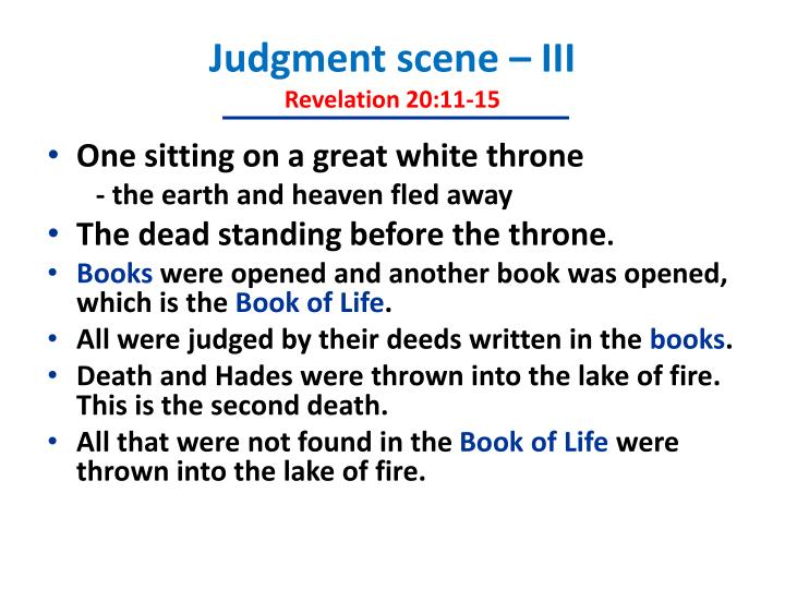 Judgment scene – III
