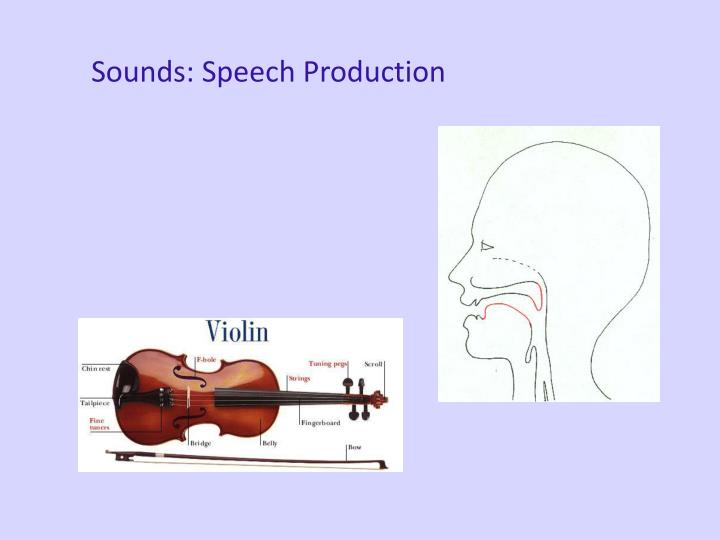 Sounds: Speech Production