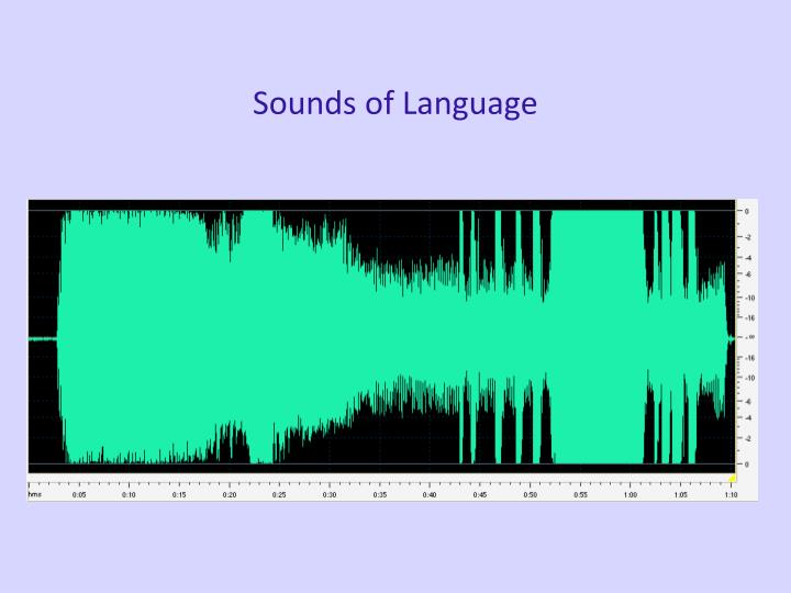 Sounds of language