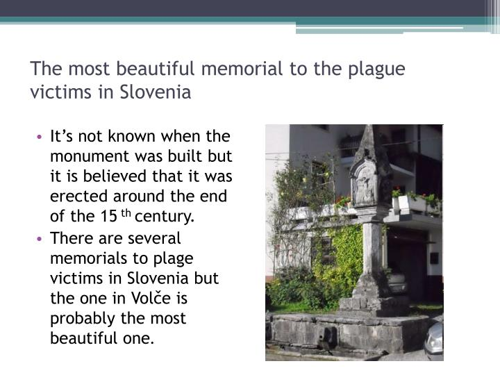 The most beautiful memorial to the plague victims in Slovenia