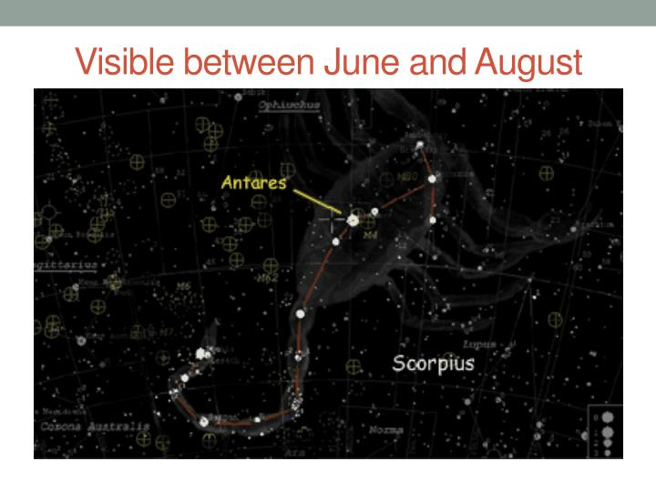 Visible between June and August