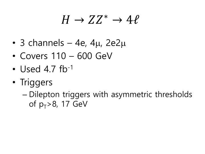 3 channels – 4e, 4