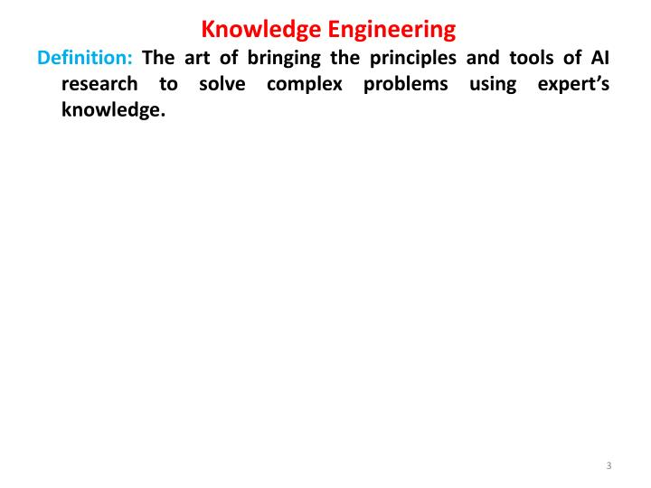 Knowledge engineering1
